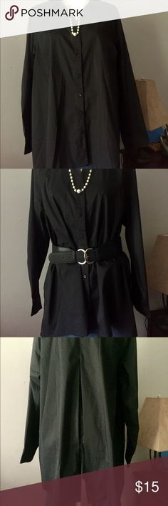 Lane Bryant Button down with slit back. NWT Versatile black button down with a small pleated back slit. Will look great with jeans and boots or a patterned skirt and heels. Great gateway piece for the colder months! Lane Bryant Tops Button Down Shirts