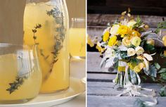 Perfect Pairs: Cocktails + Bouquets. Vodka Thyme Lemonade from Martha Stewart // That stunner bouquet was shot by Tec Petaja and created by Studio Choo