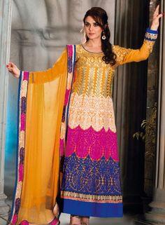Buy Bollywood Orange Anarkali With Chudidar $108.98 . Shop at - bollywood-ankle-length-anarkali.blogspot.co.uk/2014/06/buy-bollywood-orange-anarkali-with_11.html