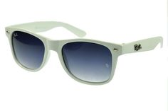 Ray Ban Wayfarer RB2140 Sunglasses White Frame Gray Lens