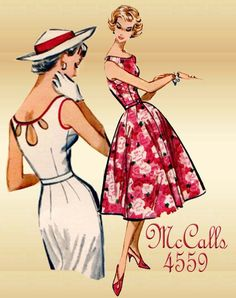 1950s Vintage Summer Dress Pattern McCalls by FloradoraPresents, $30.00