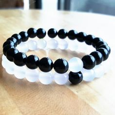 Couple bracelets for him and her (yin yang)
