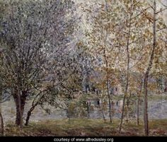 The Loing Canal in Spring, 1892 - Alfred Sisley - www.alfredsisley.org