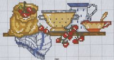mensola semplice scolapasta ciliegie