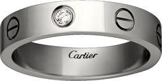 CRB4050500 - LOVE wedding band, 1 diamond - White gold, diamond - Cartier