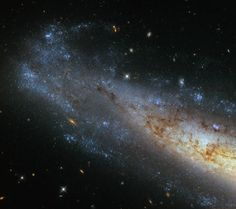 Whirlpool Galaxy Hubble caught a cross-section of NGC a spiral galaxy located about 50 million light-years from Earth. - Hubble caught a cross-section of NGC a spiral galaxy located about 50 million light-years from Earth. Telescope Images, Hubble Space Telescope, Nasa Space, Space Photos, Space Images, Cosmos, Dwarf Planet, Nasa Missions, Spiral Galaxy