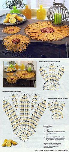 Ажурные салфетки крючком схемы. Салфетка цветок крючком | Домоводство для всей семьи