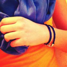 Bright Blue Braided Double Wrap Bracelet by TheGentleFlower