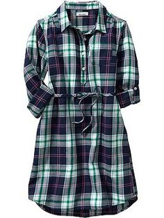 i love plaid! plaid flannel dress from old navy
