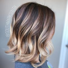Blonde+Ombre+Balayage+For+Dark+Brown+Hair