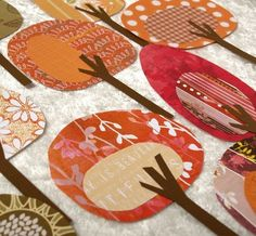 Paper Trees Friendly Forest Crisp Autumn Day by psitsinthedetails. , via Etsy. Scrapbooking Layouts, Scrapbook Paper, Scrapbook Photos, Ideas Scrap, Embroidery Designs, Atelier D Art, Autumn Crafts, Autumn Art, Colorful Trees