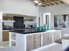 Image result for ibizan concrete wood kitchen