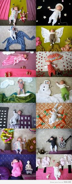 cute sleeping baby photos (but who has time to do this??)