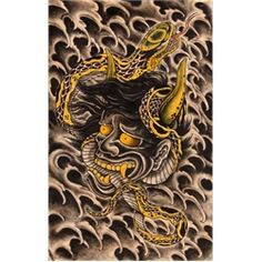 Hanya chest tattoo for my next addition on my Japanese sleeve