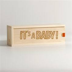 IT'S A BABY wood wine box - New Baby