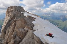 Glacier de la Marmolada, Punta Roca (3309 m) et Punta Penia (3343 m), massif de la Marmolada, Canazei, Val di Fassa, province de Trente, Trentin-Haut Adige, Italie. | da byb64