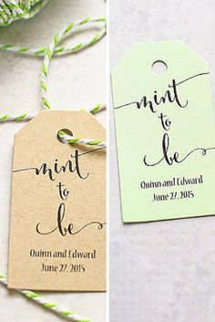 Mint to be ♥ These are perfect for any wedding, bridal shower, or engagement party as favor tags.  I Do Tags | Photography by @firefam5