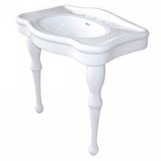 Kingston Brass VPB5328 Fauceture White Pedestals Single Bowl Bathroom Sinks |eFaucets.com