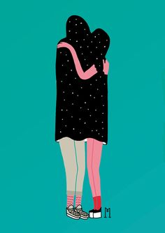 Damn Monday Session: The Joy Of Living /// Illustration: Love by Michela Picchi Illustration Design Graphique, Love Illustration, Character Illustration, Love Posters, Hugs, Illustrations Posters, Art Inspo, Painting & Drawing, Illustrators
