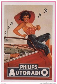 Philips Pin Up | Old commercial for car radio Philips retro museum pinup car radio commercial vintage