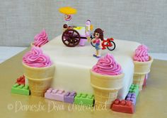 Birthday Cake Fondant Girl Thoughts 57 Ideas For 2019 Ice Cream Birthday Cake, New Birthday Cake, Themed Birthday Cakes, Birthday Parties, Birthday Wishes, Birthday Ideas, Happy Birthday, Lego Friends Cake, Lego Friends Birthday