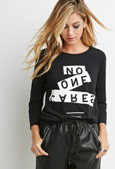 No One Cares- Ladies Tee by Forever21