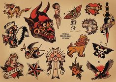 Sailor Jerry Tattoo Flash Meanings: