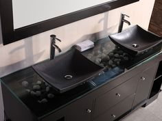 72 Oasis Double Vessel Sink Vanity