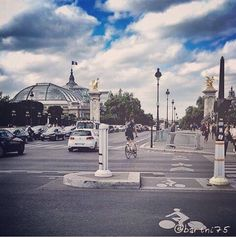 Le pont AlexandreIII et le dôme du grand Palais. #Paris #follow4follow #scenery #landscape  #Pictures #Pics #nice #instacity #instagood #Look #love #Like #follow #Tourist #perspective #city #tbt #View #Beautiful #Beauty #BestOfTheDay #architecture #Street #followme #popularpic #focus #photooftheday #followme #sky #all_shots #me by barthi75