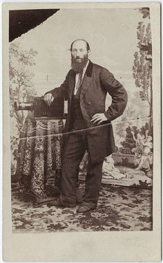 cdv of Edward Kusel with a camera
