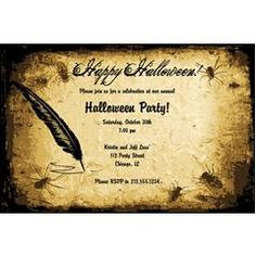 Halloween Parchment  Personalized Invitations (Over 60 different Halloween invites to choose from)