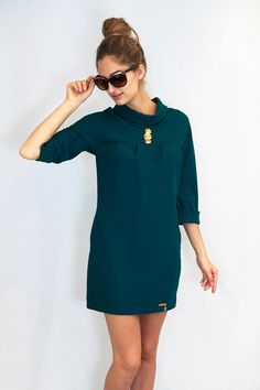 1960s Green Dress for €84.90. Check it here >> http://aleksandragerasimets.com/collections/sixties/products/dress-by-vittoria #dress #vestido #sixties #fashion #1960s