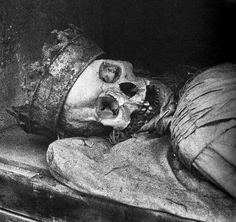 In Italian catacombs young girls or women that died a virgin would be buried with a crown to denote their purity.