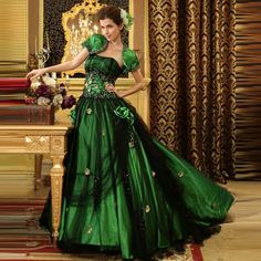 This looks like a dress one of us has to wear. We could linger sulkily by the golden entryway...which we're having, right? :)
