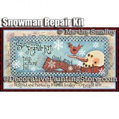 Snowman Repair Kit ePattern - Martha Smalley - PDF DOWNLOAD