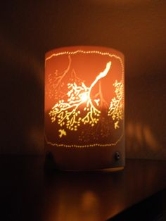 Votive or tea light candle holder. Round Tree by GlowingArt, made with upcycled PVC pipe.