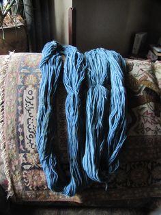 black bean dyed wool
