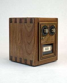 Post Office Door Coin Bank by appcraftsmen on Etsy --- like I need another bank. it's cool anyway.