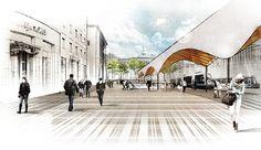 raumspielkunst (2015): New tram-stop for Ulm (DE), via raumspielkunst.de