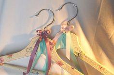 Decorative clothes hangers   https://www.facebook.com/ludkasfavouritewasteoftime