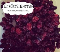 Green and Glassie: Dehydrated Cranberries