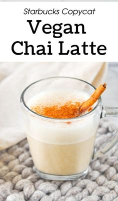 Starbucks Copycat Vegan Chai Latte Drink Recipe I delicous vegan drinks for fall I how to make chai latte vegan I homemade vegan chai latte I tips for making chai latte at home I warm cozy vegan drinks for autumn I starbucks copycat chai recipe I homemade vegan beverages I healthier vegan chai latte I how to veganize your favorite chai latte I best-ever chai latter recipe #vegandrinks #falldrinks #chailatte Vegan Dessert Recipes, Delicious Vegan Recipes, Tea Recipes, Brunch Recipes, Real Food Recipes, Drink Recipes Nonalcoholic, Yummy Drinks, Vegan Dishes, Tasty Dishes