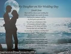DAUGHTER & SON IN LAW- Wedding Day (Poem gift) | Poem, Wedding and ...