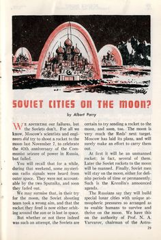 Get Ready For Soviet Cities on the Moon, With Giant Radishes And Russian Orthodox Churches!  (Modern Mechanix, 1958)
