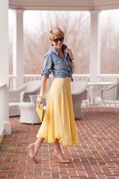 chambray + according skirts