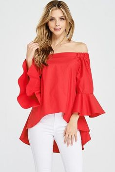Bell sleeve top en 2019 blusas женская одежда y одежда Regular Beauty Routine, Stitch Fix Dress, Bell Sleeves, Bell Sleeve Top, Off Shoulder Tops, African Fashion, Sexy, Plus Size Women, Tunic Tops
