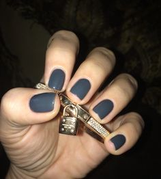 Gelish~Fashion Week Chic. Love this versatile bluish, slate gray. Great color for winter! 2014 Winter Gel Polish.