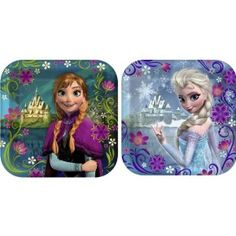 Disney's Frozen dinner plates and dessert plates from Amazon. Perfect for a Frozen party.