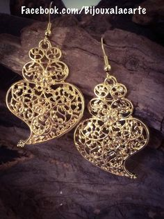 Folk Portuguese filigree earrings