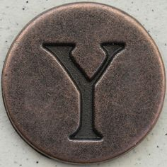 Copper Uppercase Letter Y